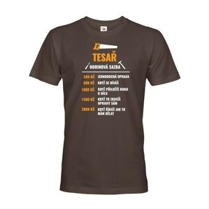 Pánské tričko pro tesaře - hodinová sazba tesaře