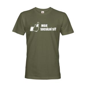 Pánske tričko s motívom piva Moja sociálna sieť