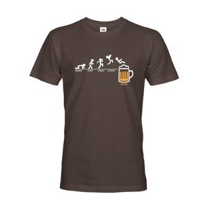 Pánske tričko s motívom Pondelok- piatok - pivo - ideálny darček pre pivára.