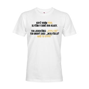 Pánske tričko s pivnou potlačou- Počujem hlasy