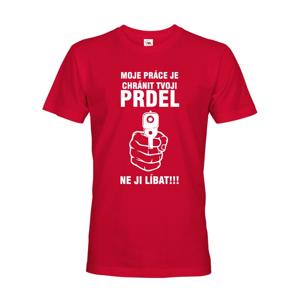 Pánské tričko s potiskem pro policisty - Chráním tvoji prdel
