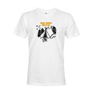 """Pánske tričko  s potlačou """"Moje tričko na stanovačku"""""""