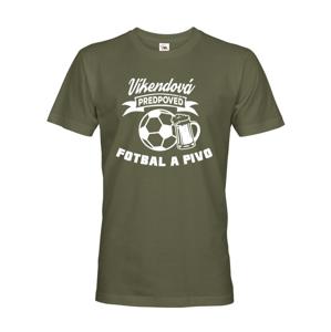 Pánske tričko s potlačou na futbal Víkendová predpoveď