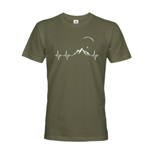 Pánske tričko s potlačou Pulz Paragliding - ideálny darček k narodeninám