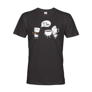Pánské tričko s potlačou - Sorry I am latte