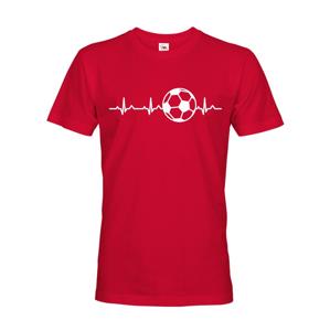 Pánske tričko s potlačou Tep futbalistu