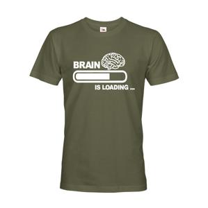 Pánské tričko s vtipným potiskem Brain is loading...