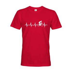 Pánske tričko Tep cyklistu, ukážte všetkým, kam vás vaše srdce ťahá