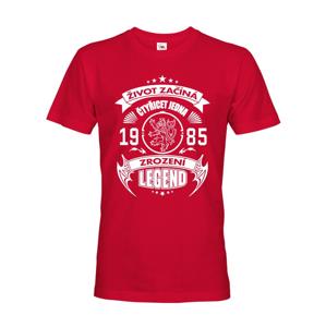 Pánske tričko Zrodenie legendy s českým levom II - narodeninové tričko