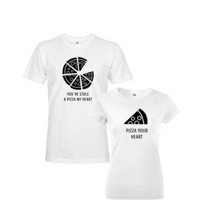 Tričká pre páry Pizza - ideálne tričká pre zamilovaných