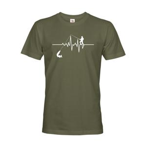Tričko pre rybárov Tep rybára / EKG s dopravou len za 2,23 Euro