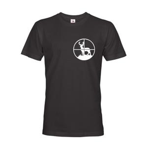 Tričko pro myslivce s jelenem v zaměrovači - ideální dárek pro lovce