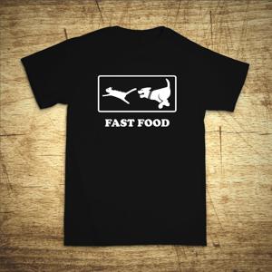 Pánské tričko s vtipnou potlačou Fast Food