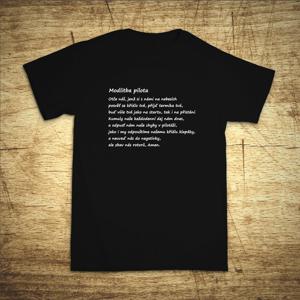 Tričko s motivem Modlitba pilota