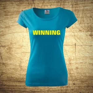 Tričko s motivem Winning