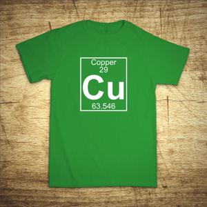 Tričko s motívom Cu - Meď