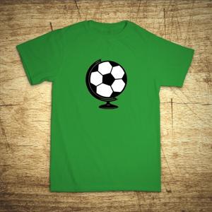 Tričko s motívom Futbal glóbus
