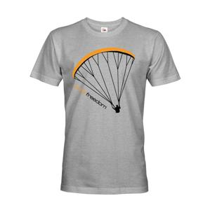 Tričko s paragliding motivem Pure freedom - doprava jen 2,23 Euro
