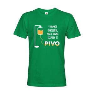 Tričko s pivným motívom Krvná skupina je pivo - ideálny darček