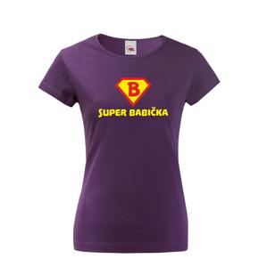 Tričko s potlačou Super Babička - skvelý darček k narodeninám pre babku