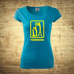 Vtipné tričko s motivem Teamwork