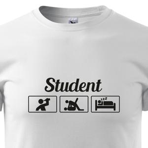 Vtipné tričko s potiskem pro studenty